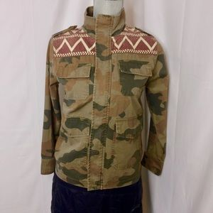 Lucky Brand Army camouflage Jacket NWOT